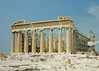 Athens, Greece.  The Parthenon is repaired and reconstructed before the 2004 Olympics were held in Athens.  The parthenon stands atop the acropolis.   © Rick Collier<br /> <br /> <br /> <br /> <br /> <br /> Ancient Greece Athens ruin ruins column columns capital capitals temples acropolis parthenon ruins ruin archaeology archaeological