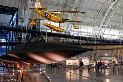 "Lockheed SR-71 Blackbird and Naval Aircraft Factory N3N ""Yellow Peril"""
