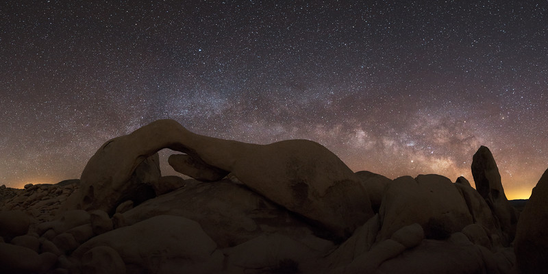 Arch Rock Milky Way Pano - Sigma 14-24 f2.8 ART DG HSM | A