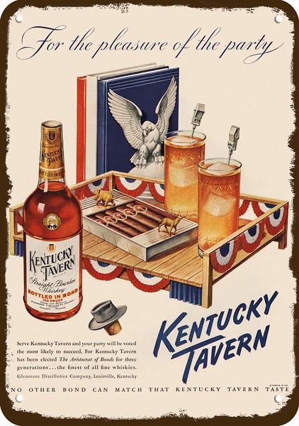 POLITICS 1948 KENTUCKY TAVERN BOURBON WHISKEY Vintage Look REPLICA METAL SIGN