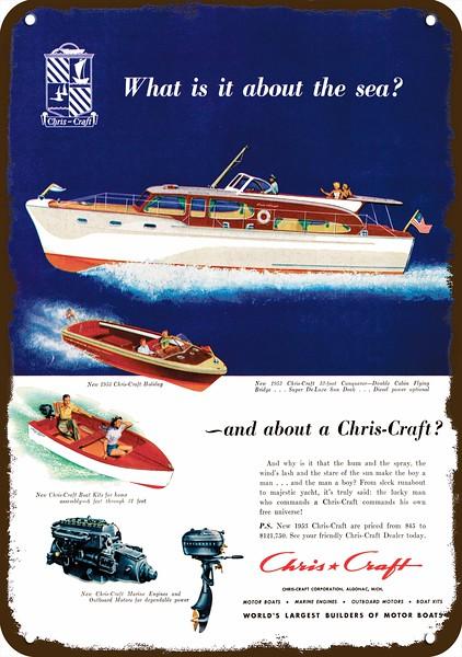 1953 CHRIS CRAFT CONQUEROR & HOLIDAY WOOD BOAT Vintage Look
