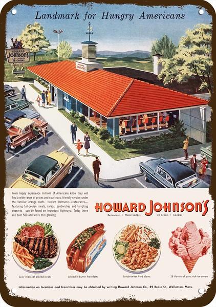 Classic Mid Century Ad HOWARD JOHNSON/'S VINTAGE Ad Retro Restaurant Ad