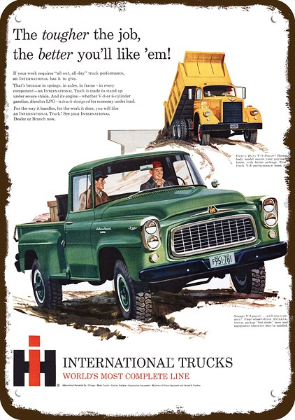 1960 INTERNATIONAL B-120 4x4 PICKUP TRUCK & DUMP TRUCK