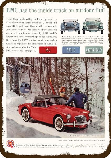 1961 MG ROADSTER Convertible Car /& BMC /& AUSTIN Vintage Look REPLICA METAL SIGN
