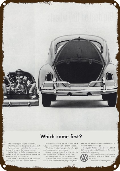 1963 VOLKSWAGEN BEETLE 1949 to 1963 VW BUG Car Vintage Look REPLICA METAL SIGN
