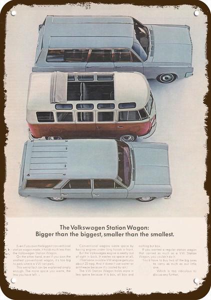 1965 Volkswagen Vw Bus Station Wagon Versus Cars Vintage Look