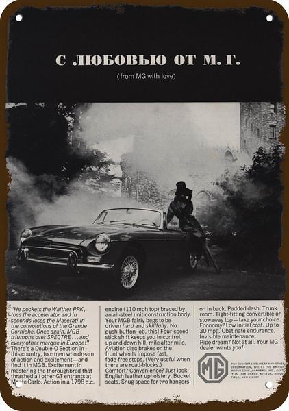 SAILBOATS 1978 MGB Convertible Sports Car Vintage Look REPLICA METAL SIGN MG