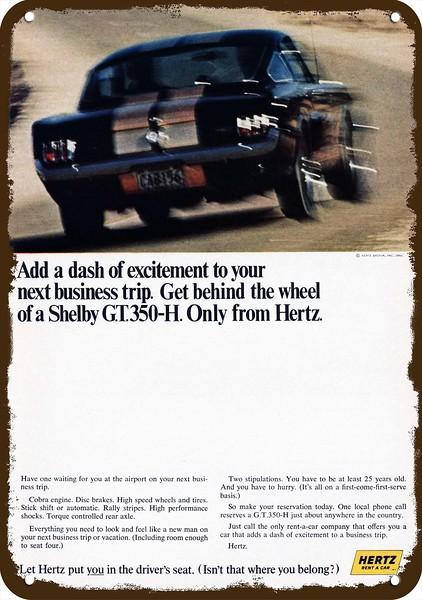 1966 Shelby Gt350 H Ford Mustang Hertz Car Rental Model Vintage Look