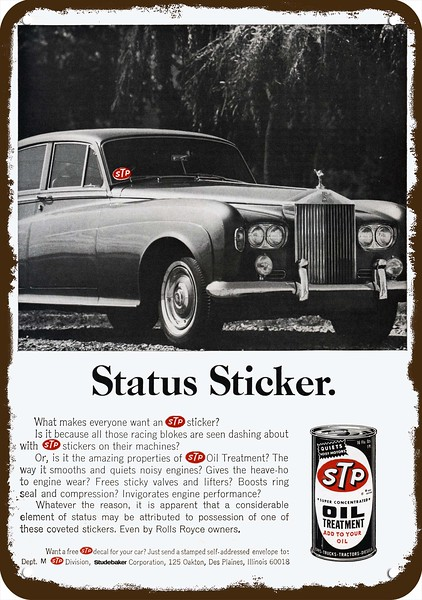 NASCAR RICHARD PETTY 1974 STP OIL TREATMENT Vintage Look REPLICA METAL SIGN