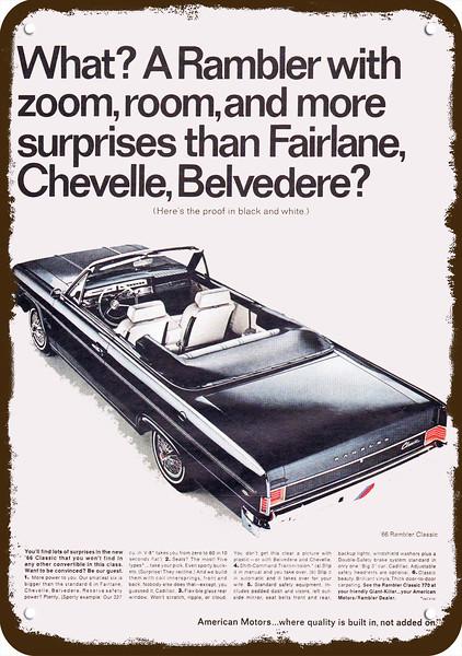 american motors classic old photo advertisement print poster brochure classic dealer auto usa ambassador Large Car Ad 1965 Rambler Classic