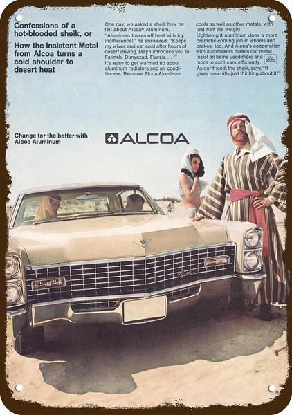 Vintage Look Reproduction Metal Sign 1967 Cadillac Automobiles