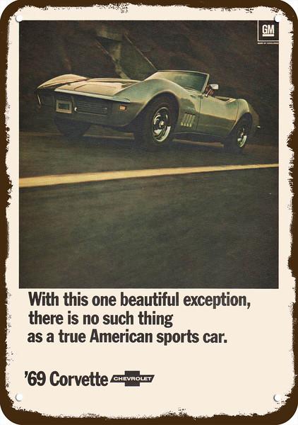 1968 Chevrolet Camaro SS Convertible Metal Sign Vintage Look Reproduction
