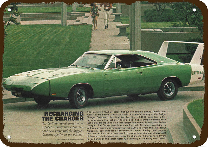 1969 DODGE CHARGER DAYTONA w/ WING SPOILER CAR Vintage Look ...