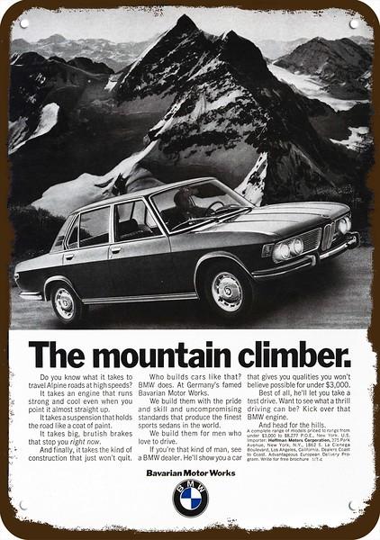 DONNER UND BLITZEN 1970 BMW Sports Car Vintage Look REPLICA METAL SIGN