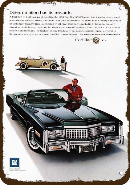 1976 CADILLAC ELDORADO Convertible /& HARDTOP Car Vintage Look REPLICA METAL SIGN