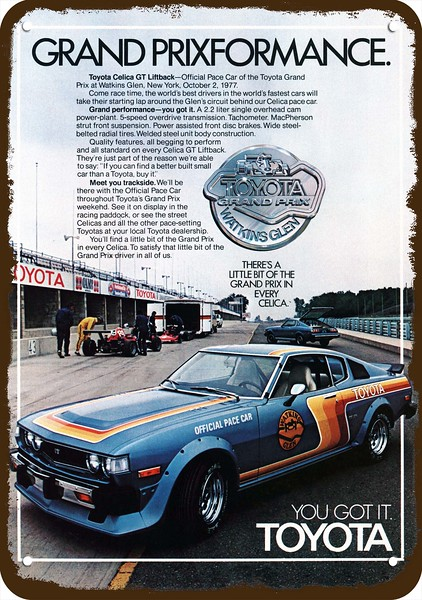 1977 TOYOTA CELICA GT PACE CAR GRAND PRIX WATKINS GLEN