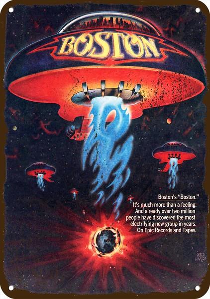 1977 BOSTON Band BOSTON 2 Album Release Vintage Look REPLICA METAL SIGN UFO
