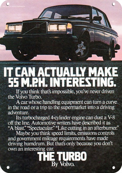 VINTAGE AD It Can Actually Make 55 M.P.H Interesting 1983 VOLVO TURBO Car