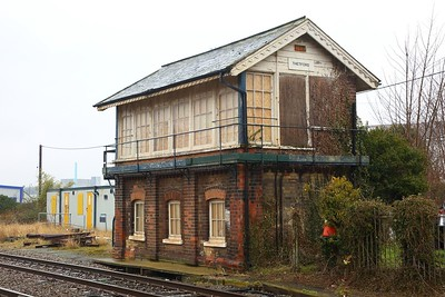 Thetford signal box on the 4th March 2018