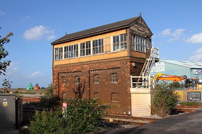 Mostyn signal box on the 16th October 2017