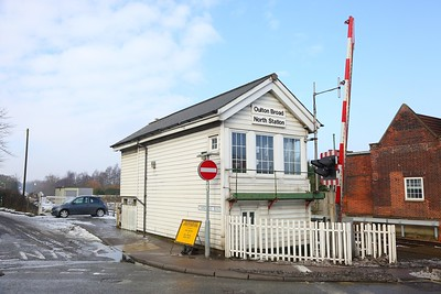 Oulton Broad North Station Signal box on the 4th March 2018 1