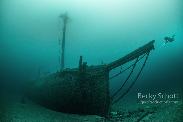 Face to Face with the Schooner Typo in Lake Huron