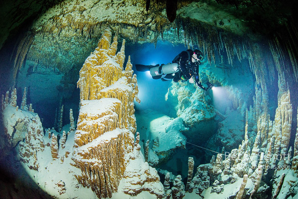 Winter Wonderland Cave Diving - Belize