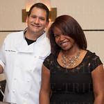 Chef John Varanese and Felicia Corbett.