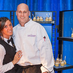 Kel Ray and Chef Graham Weber of Blu.
