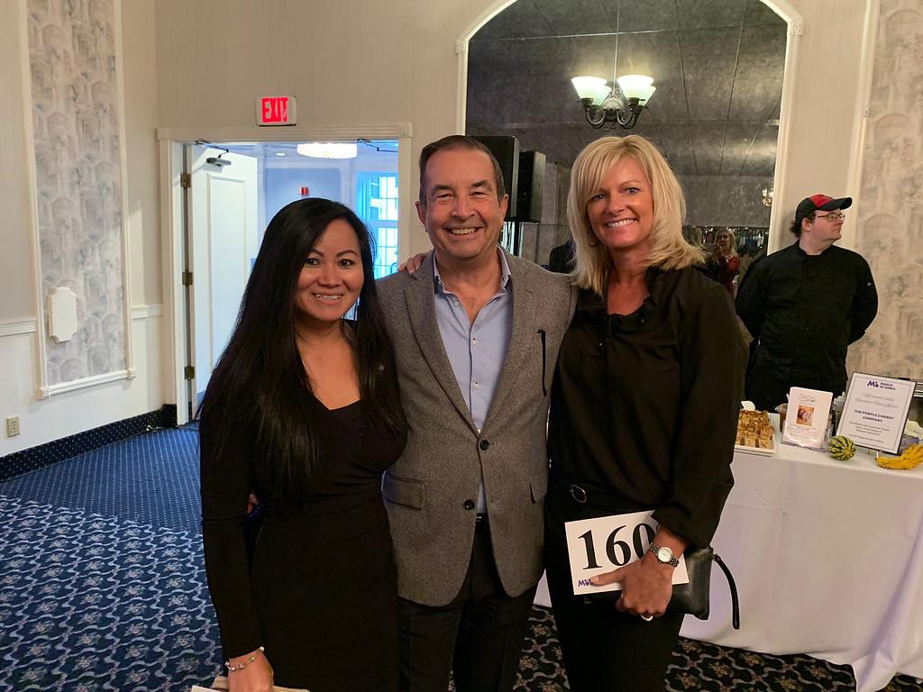 . From left, Tara Sek and Antonio Mendieta, both of Lowell, and Cheryl Popp of Westford
