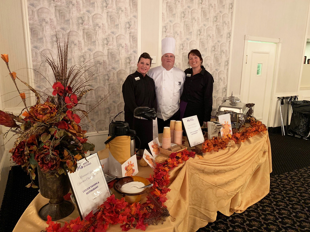 . Representing Lenzi�s are, from left, Jo-Lynn Bubanas and Chef Kevin McGuire, both of Lowell, and Terry Cyr of Dracut