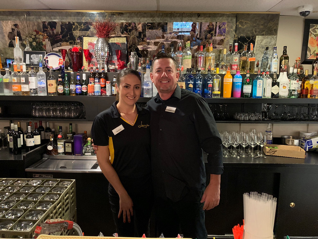 . Bartenders Marissa Fiorentino and Kenny Fleming, both of Lowell