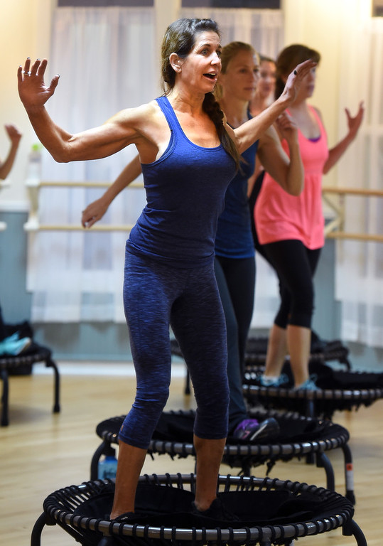 . Julie Franklin leads the class on Thursday.Julia Franklin\'s Signature Class at Begin Fitness in Niwot. For more photos and a video, go to dailycamera.com.  Cliff Grassmick  Staff Photographer October 5, 2017