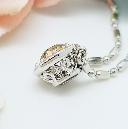 "The ""Keira"" Octagon Pendant - Featuring a 1.15ct Old European Cut Diamond"