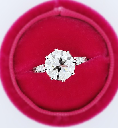 """Modified """"Anne"""" Solitaire - Featuring a 4.02ct Old European Cut Diamond"""