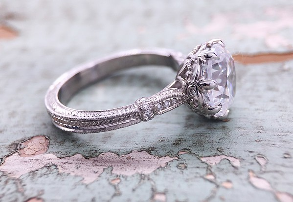 "The ""Olivia"" Solitaire Setting - Featuring a 9mm OEC Center"