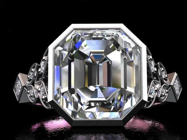 """The """"Artemis"""" Solitaire - Featuring a 3.40ct Vintage Asscher Diamond"""