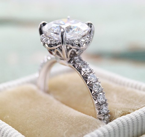 "The ""Gabbie"" Halo - Featuring a 7.5mm Moissanite Center"