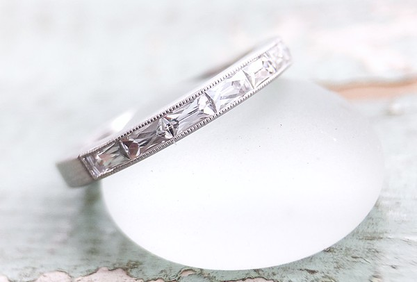 "The ""Angelica"" French Cut Diamond Channel Set Band"