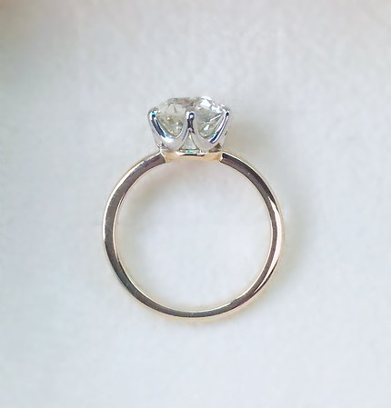 "The ""Chelsea"" Solitaire Setting - Featuring a 1.95ct OEC Diamond"