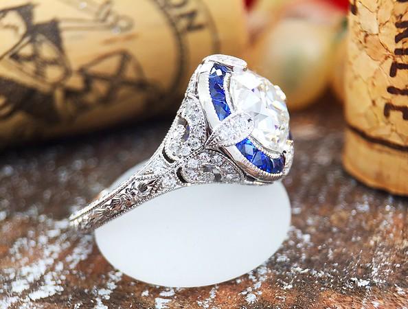 """The """"Marina"""" Halo Setting - Featuring a 2.19ct Old European Cut Diamond"""