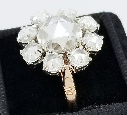 """The """"Marguerite"""" Rose Cut Halo Setting - Featuring Rose Cut Moissanites"""