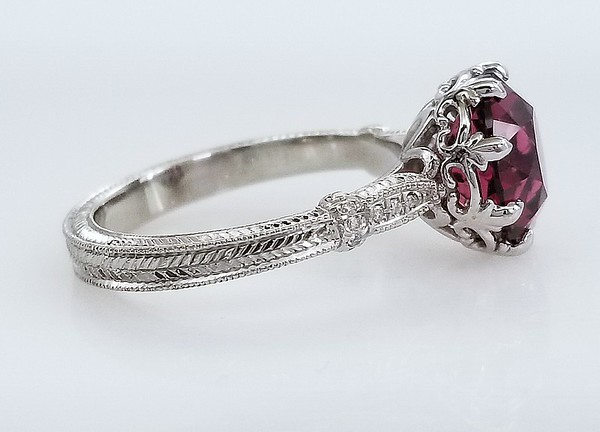 "The ""Olivia"" Solitaire - Featuring a 9mm Garnet"