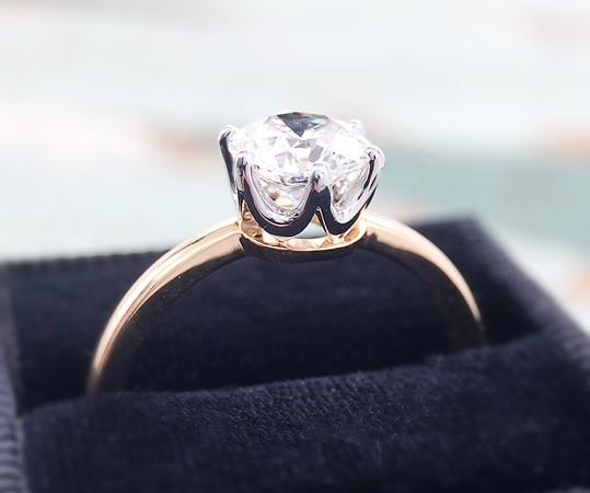 "The ""Chelsea"" Solitaire - Featuring a 1ct Round Brilliant Center"