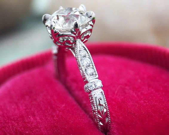 "The ""Olivia"" Solitaire - Featuring a 0.99ct OEC Diamond Center"