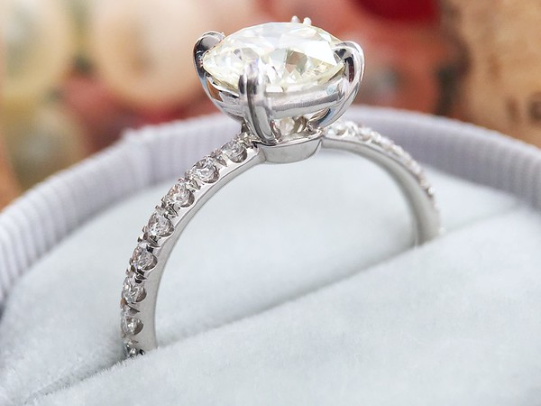 "The ""Kathryn"" Solitaire - Featuring a 1.79ct OEC Diamond"