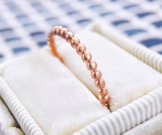 "The ""Cressida"" Beaded Eternity Band in 14k Rose Gold"