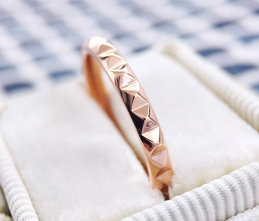 "The ""Arya"" Studded Eternity Band in 14k Rose Gold"