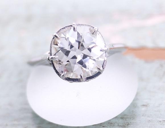 "The ""Julia"" Solitaire - Featuring an Antique Cushion Diamond"
