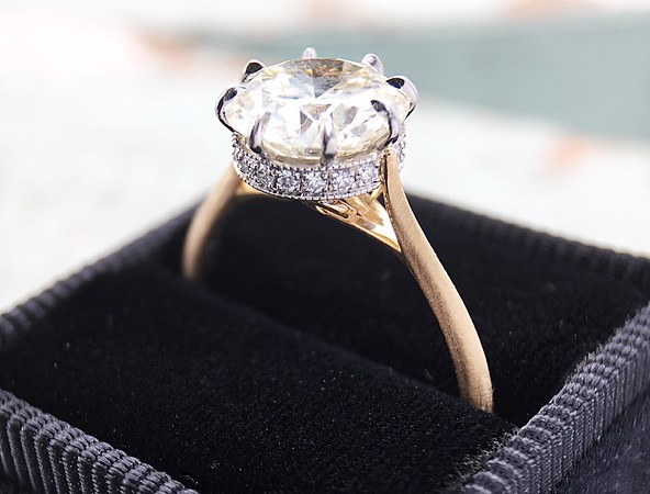 "The ""Julia"" Solitaire Setting - Featuring a 2.18ct Transitional Cut Center"